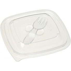 Deckel für Salatschale aus Plastik PET 120x120mm (50 Stück)