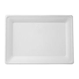 Teller Rect. Zuckerrohr Weiß 200x280mm (50 Stück)
