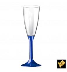 Sektflöte Plastik mit Blau Fuß 120ml 2T (200 Stück)