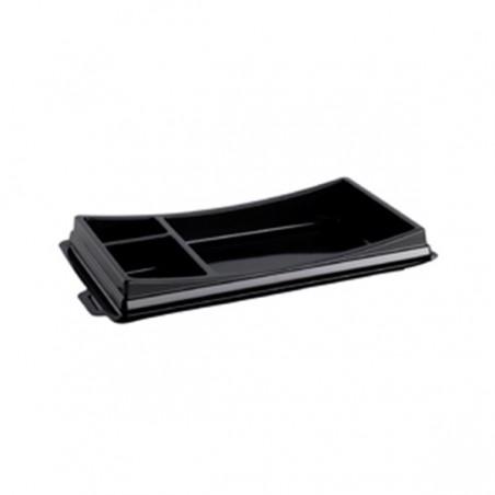 Verpackung für Sushi schwarz 199x113mm (10 Stück)