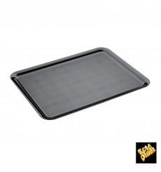 Serviertablett Plastik Tray Schwarz 37x50cm (4 Stück)