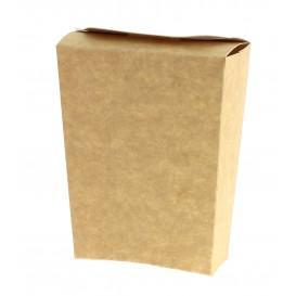 Geschlossene Pommes Box kraft (450 Stück)