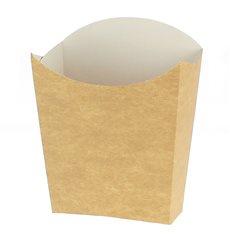 Medium Pommesschütte Faltbox Kraft (500 Stück)