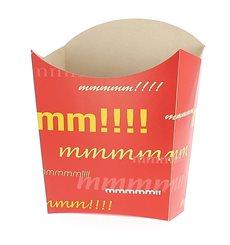 Medium Pommesschütte Faltbox 8,2x3,5x12,5cm (500 Stück)