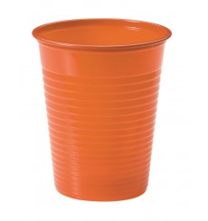 Plastikbecher Orange PS 200ml (50 Stück)