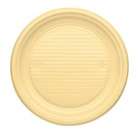 Plastikteller flach Creme PS 170mm (1100 Stück)