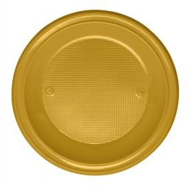Plastikteller Tief Gold PS 220mm (600 Stück)