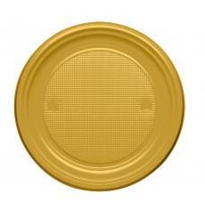 Plastikteller flach Gold PS 170mm (1100 Stück)