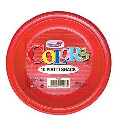 Plastikteller PS flach Rot Ø280mm (10 Stück)