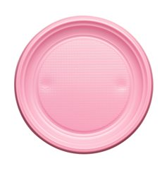 Plastikteller Flach Rosa PS 170mm (50 Stück)
