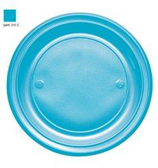 Plastikteller PS Flach Turkis Ø220mm (30 Stück)