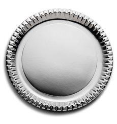 Pappteller Rund Silber 290mm (6 Stück)