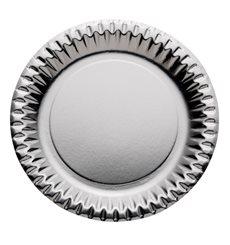 Pappteller Rund Silber 230mm (10 Stück)