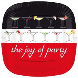 Plastikteller Platz flach ''Joy of Party'' 230mm (8 Stück)