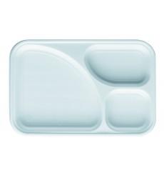 Servierplatten Weiß 3-Geteilt 315x210mm (100 Stück)
