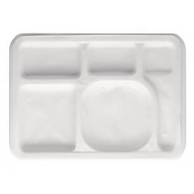 Servierplatten Weiß 5-Geteilt 470x350mm (25 Stück)