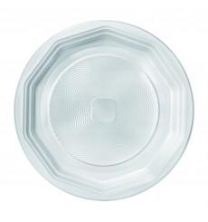 Plastikteller flach weiß PS 220 mm (100 Einh.)
