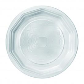 Plastikteller flach weiß PS 220 mm (1600 Einh.)