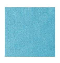 Papierservietten 2-lagig Hellblau 33x33cm (50 Stück)