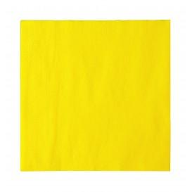Papierservietten 2-lagig Gelb 33x33cm (1200 Stück)