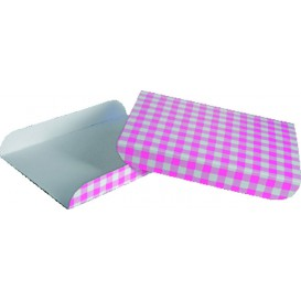 Pappschale pink für Waffeln 13,5x10cm (100 Stück)
