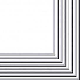 Papierservietten Silber 2-lagig 33x33 cm (480 Stück)
