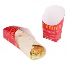 Faltbox Pappe für Wraps 60x50x120mm (25 Stück)