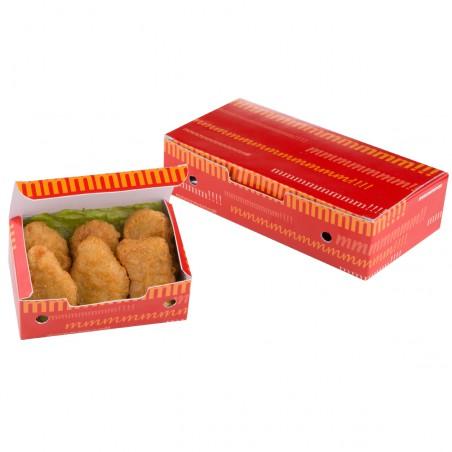 SnackBox mit Deckel To Go 200x100x50mm (25 Stück)
