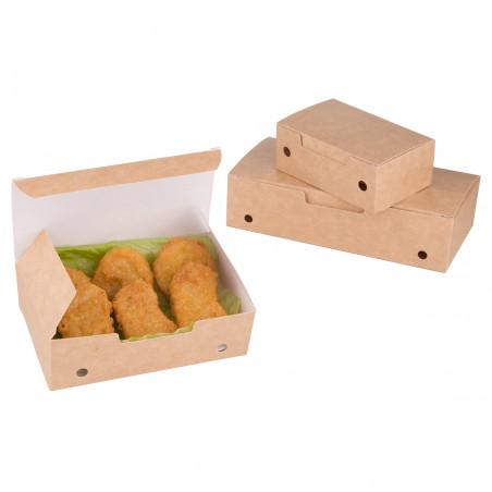 SnackBox mit Deckel To Go Klein Kraft 115x72x43mm (25 Stück)