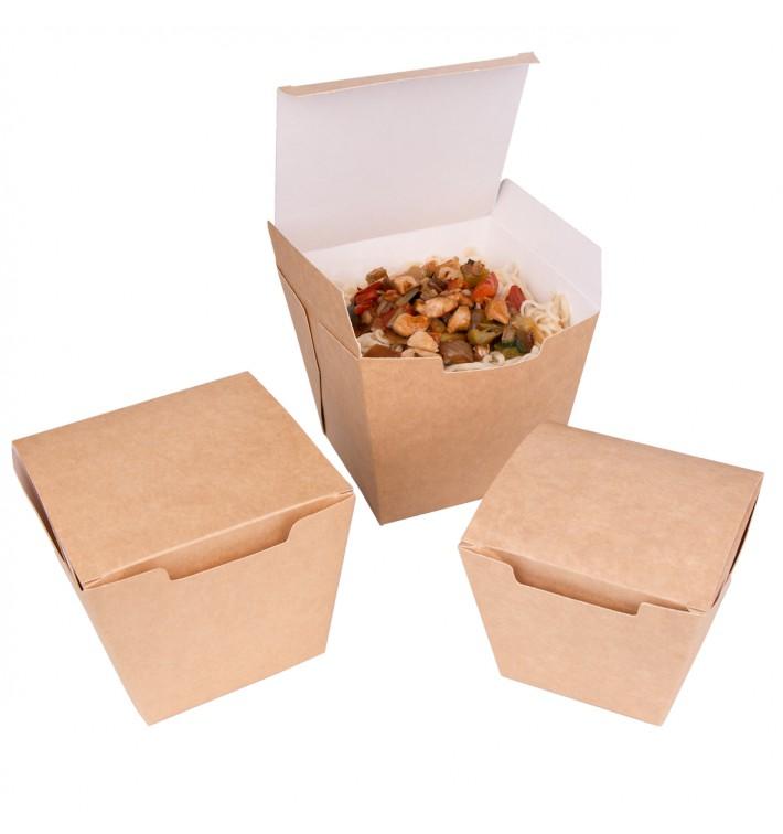 "Faltbox Pappe ""To Go"" Wok Kraft 950ml (100 Stück)"