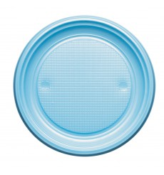 Plastikteller PS Flach Hellblau Ø220mm (780 Stück)