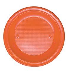 Plastikteller PS Tief Orange Ø220mm (30 Stück)