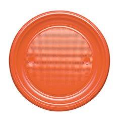 Plastikteller PS flach Orange Ø170mm (50 Stück)