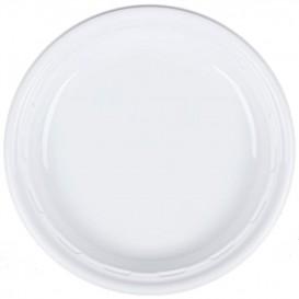 """Plastikteller PS """"Famous Impact"""" Weiße Ø230mm (125 Stück)"""