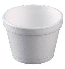 Styroporschale weiß 8OZ/355ml Ø108mm (500 Stück)