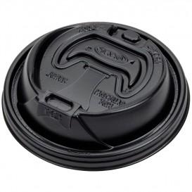 Deckel für Becher mit Trinkloch schwarz Ø94mm (100 Stück)