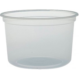 """Plastikbehälter PP """"Deli"""" 16Oz/473ml Transp. Ø120mm (500 Stück)"""