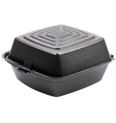 Burger-Box Styropor Schwarz 150x150x80mm (500 Stück)