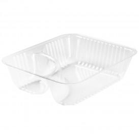 Behälter aus Plastik PS 2-Geteilt Transp. 355ml (500 Stück)