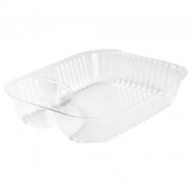 Behälter aus Plastik PS 2-Geteilt Transp. 565ml (125 Stück)
