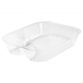 Behälter aus Plastik PS 2-Geteilt Transp. 565ml (500 Stück)