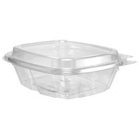 Plastikbehälter PET Unverletzlich Deckel Hoch 240ml (100 Stück)