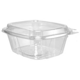 Plastikbehälter PET Unverletzlich Deckel Hoch 475ml (100 Stück)