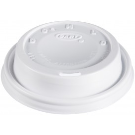 "PlastikDeckel PS ""Cappuccino"" Weiß 8Oz/240 ml (1000 Stück)"