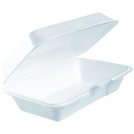 Verpackung EPS Lunchbox Deckel Abnehmbar Weiß 225x140mm (125 Stück)