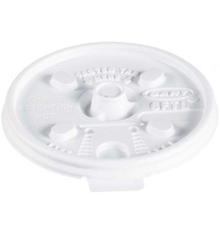 """PlastikDeckel """"Lift n'Lock"""" PS Weiß Ø7,4cm (100 Stück)"""
