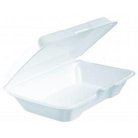 Verpackung EPS LunchBox Deckel Abnehmbar Weiß 230x150X65mm (200 Stück)