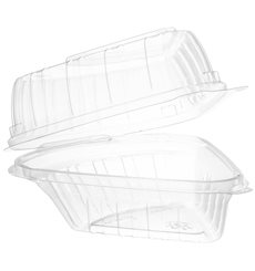 """Plastikschale Klappdeckel OPS """"Clear Seal"""" Stück Kuchen 169ml (250 Stück)"""
