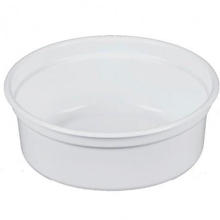 "Behälter aus Plastik PP ""Deli"" Weiß 8Oz/266ml Ø81mm (25 Stück)"