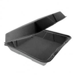 Verpackung MenuBox Abnehmbar Schwarz 240x235mm (100 Stück)